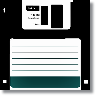Retro - Siyah Floppy Disket Kanvas Tablo