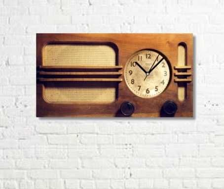 Retro Design Tablo Saat - Radyo 1