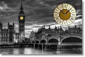 Kanvas Tablo Saat - London BigBen (4) - Thumbnail