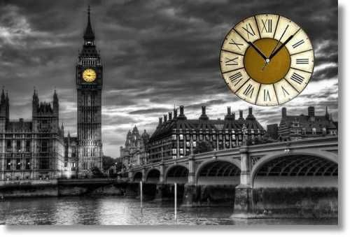 Kanvas Tablo Saat - London BigBen (4)