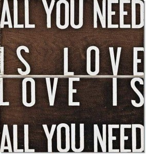Kanvas Tablo - All You Need Is Love - I - Thumbnail
