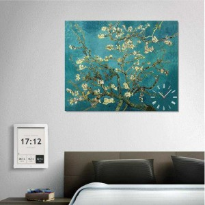 Kanvas Tablo Saat - Van Gogh - Blossoming - Thumbnail